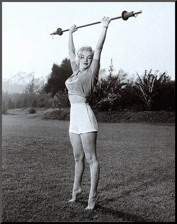 Marilyn Workin' It Mounted Print