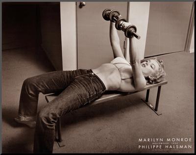 Marilyn Monroe, Hollywood 1952 Mounted Print by Philippe Halsman