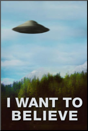 The X-Files I Want To Believe TV Poster Print Mounted Print
