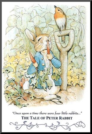 Beatrix Potter Tale Peter Rabbit Art Print POSTER cute Kunst op hout