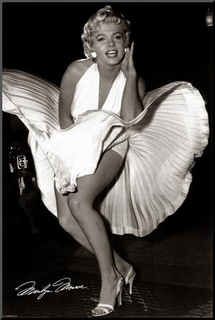 Marilyn Monroe - Seven Year Itch Kunst op hout