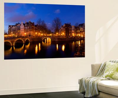 Keizergracht Canal, Leidsegracht Canal, South Holland, Amsterdam, Netherlands Posters by Jim Engelbrecht