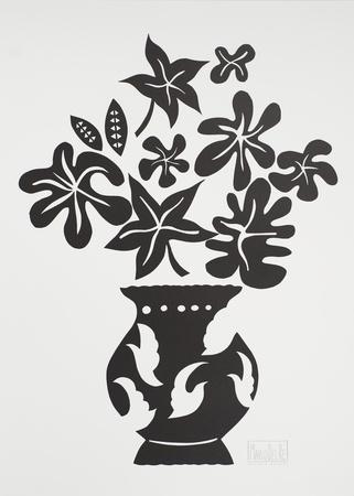 Vase IV Noir Posters by Marco Del Re