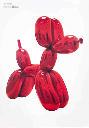 Balloon Dog (Red) Posters by Jeff Koons