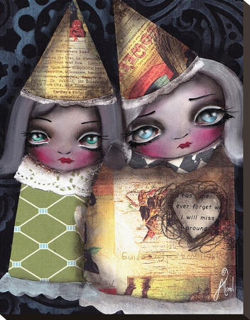 Sisters Stretched Canvas Print by Abril Andrade