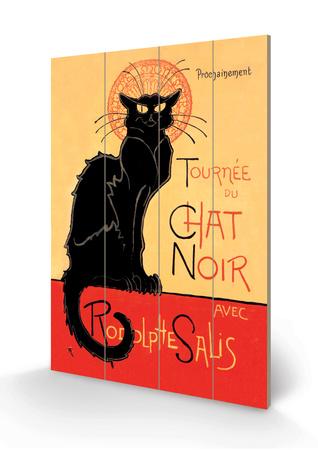 Tournee du Chat Noir Avec Rodolptte Salis Cartel de madera por Théophile Alexandre Steinlen