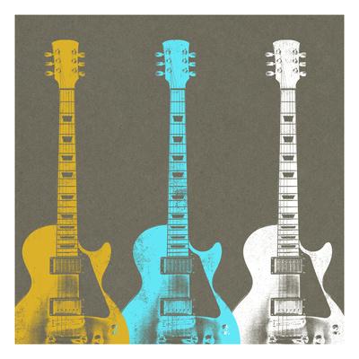 Guitars 2 Giclee Print by Stella Bradley