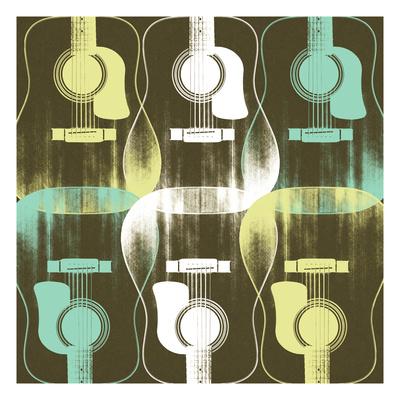 Guitars 7 Giclee Print by Stella Bradley