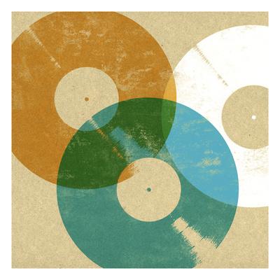 Records 3 Giclee Print by Stella Bradley