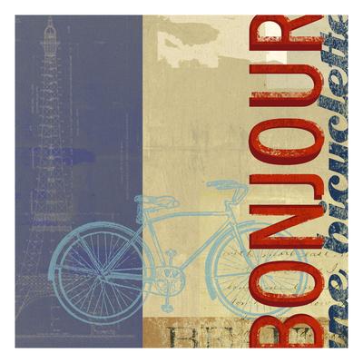 Bonjour Bike Giclee Print by Stella Bradley