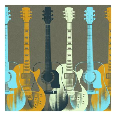Guitars 5 Giclee Print by Stella Bradley