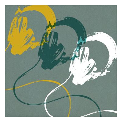 Headphones A Giclee Print by Stella Bradley