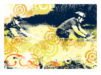 Mountainbike 1 Giclee Print by JB Hall