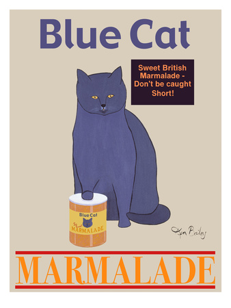 Blue Cat Giclee Print by Ken Bailey