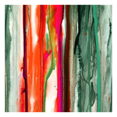 Green Pink Drips B Giclee Print by Tracy Hiner