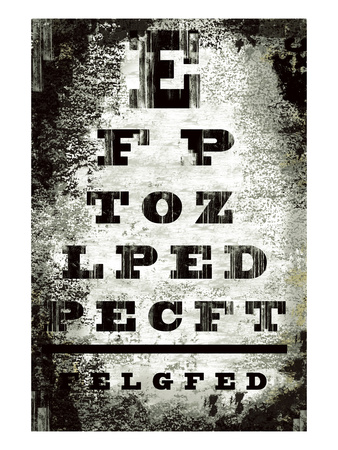 Eyechart Giclee Print by Tracy Hiner