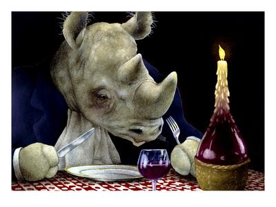 Dine-oceros Giclée-tryk af Will Bullas