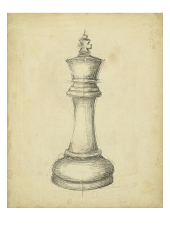 Antique Chess I Prints by Ethan Harper