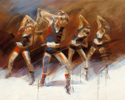 Dance up Print by Kitty Meijering