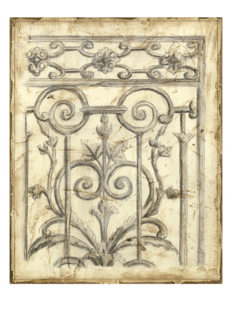 Decorative Iron Sketch II Poster by Megan Meagher