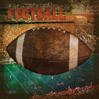 Football Square II Prints by Denise Tedeschi