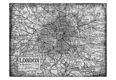 Environs LONDON Posters by Carole Stevens