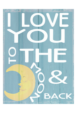 To The Moon and Back Print by Taylor Greene