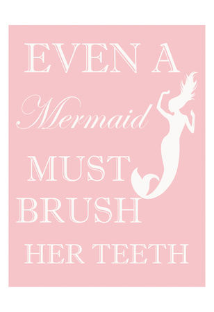 Mermaid Must Brush Prints by Taylor Greene