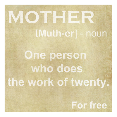Mother Definition Posters by Taylor Greene