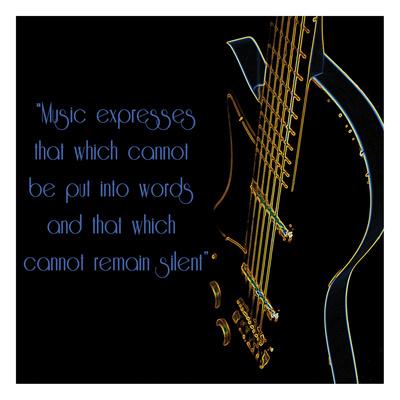 Neon Square Music Quote 2 Prints by Suzanne Foschino