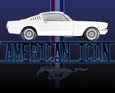 Mustang American Icon Tin Sign Tin Sign