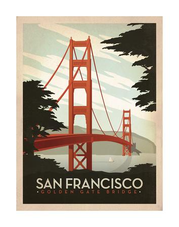 San Francisco: Golden Gate Bridge Giclee Print by  Anderson Design Group