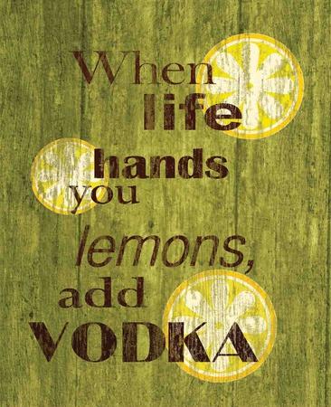 Life Lemons Vodka Tin Sign Tin Sign