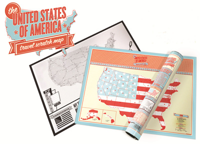 United States Scratch Map - Travel Edition Scratch Poster Prints