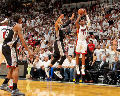 Miami, FL - JUNE 6 Ray Allen and Danny Green Photo
