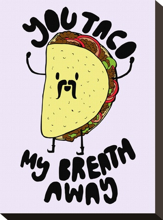 You Taco Stretched Canvas Print