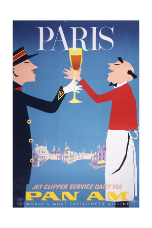 Pan Am - Paris Giclée-Druck