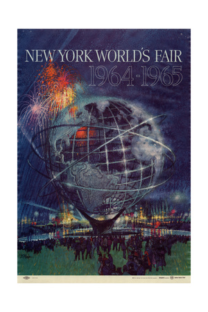 Center Warshaw Collection Centennial Expositions, New York World's Fair Lámina giclée