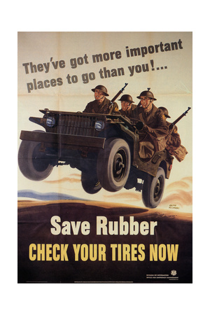 War Information poster, Save Rubber, National Museum of American History, Archives Center Giclee Print