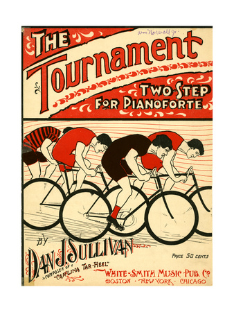 "Sheet Music Covers: ""The Tournament"" Composed by Dan J. Sullivan, 1899 Giclee Print"