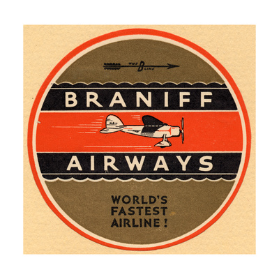 National Air and Space Museum: Braniff Airways Giclee Print