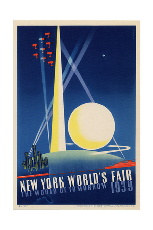 World's Fair: Poster for New York World's Fair 1939, National Museum of American History Lámina giclée
