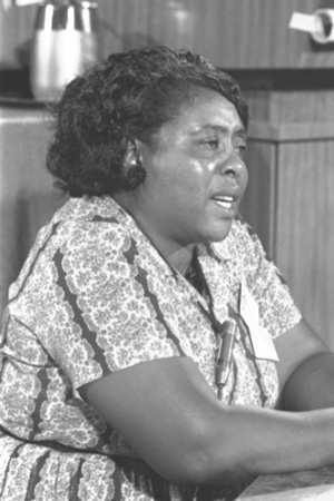Fannie Lou Hamer, African-American Civil Rights Leader in 1964 Photo