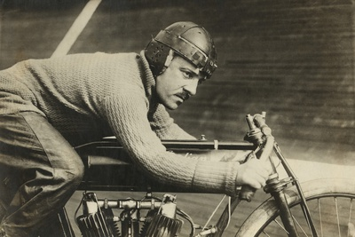 Andre Grapperon was a French Champion Motorcyclist in 1913 Photo