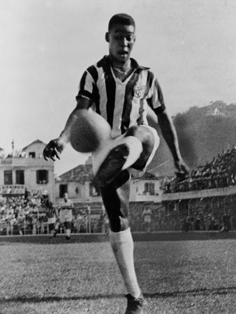 Pele, the Brazilian Soccer Champion in 1965 Foto