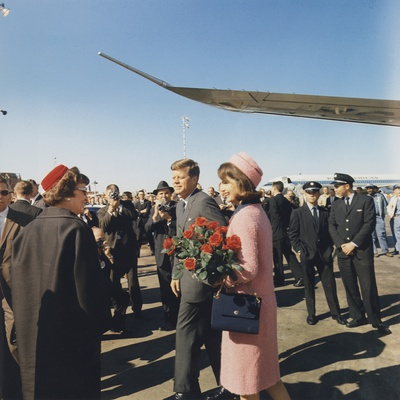 President and Jacqueline Kennedy Arrive at Dallas's Love Field, Nov. 22, 1963 Photo