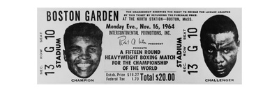 Ticket to World Championship Boxing Match Between Muhammad Ali and Sonny Liston Prints