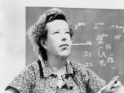 Maria Goeppert-Mayer Shared 1963 Nobel Prize for Physics with J. Hans D. Jensen Photo!