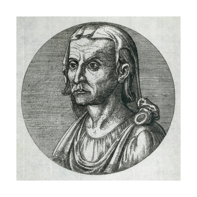 Hippocrates (460-375 Bc), Greek Physician. Engraving, Ca. 1800 Prints