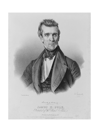 James Polk, President of the United States Print by Charles Currier Fenderich